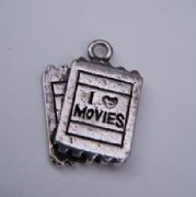 Movie Tickets Personalised Wine Glass Charm - Full Bead Style